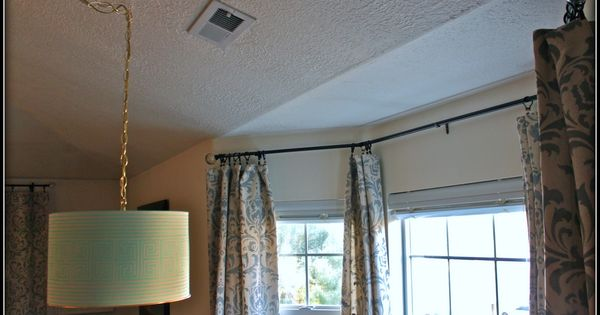 Diy Curtain Rods Sliding Glass Door Bay Window Diy Curtain Rods Diy Curtains And Sliding
