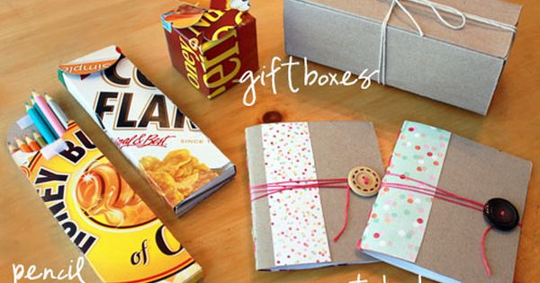 Cute cereal box crafts.