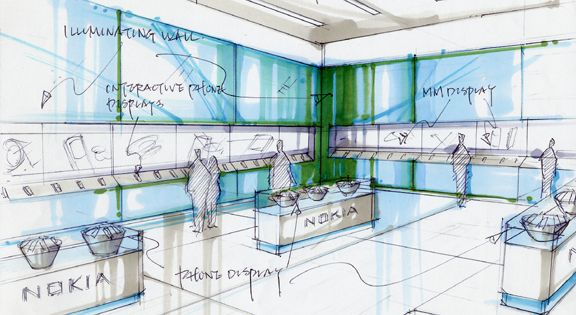 Image result for retail design sketches