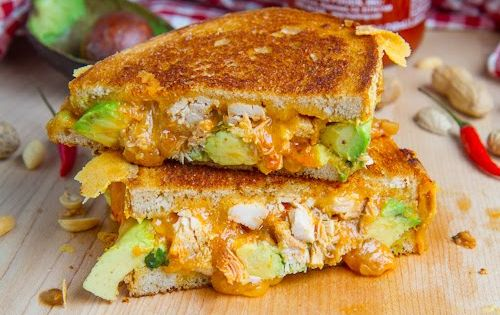 Sandwich RECIPES AND IMAGES | ... Peanut Chicken Grilled Cheese Sandwich (aka