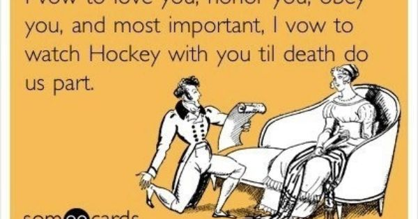 My Vows Exactlyseriously We Planned Our Wedding Around A Hockey Game