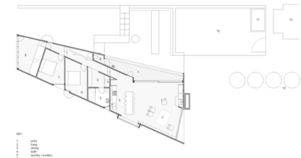 Shearer S Quarters By John Wardle Architects Floor Plan