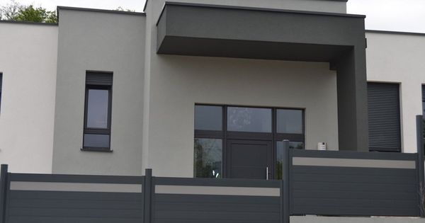 facade grise anthracite recherche google peinture pinterest fa ades gris et recherche. Black Bedroom Furniture Sets. Home Design Ideas