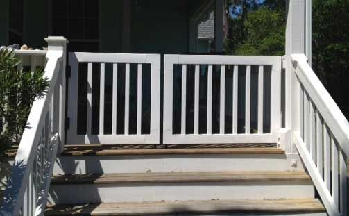Gate Kits For Vinyl Deck And Porch Railing Deck Gate Porch Gate Decks And Porches