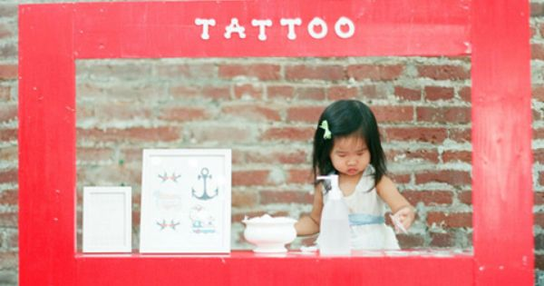 (temporary) tattoo parlor. Great Kids Party idea