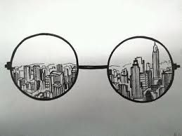 One City Insides Of My Glasses Drawingsrock Creative Drawing Drawings Art