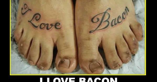 Bacon Feet Tattoo Demotivational Poster  Funny 2