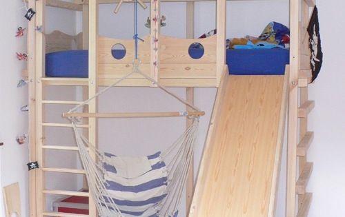 abenteuerbett spielbett bett selber bauen pinterest kinderzimmer hochbetten. Black Bedroom Furniture Sets. Home Design Ideas