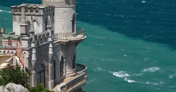 Romantic Love Castle by the Sea in Crimea. One of the most