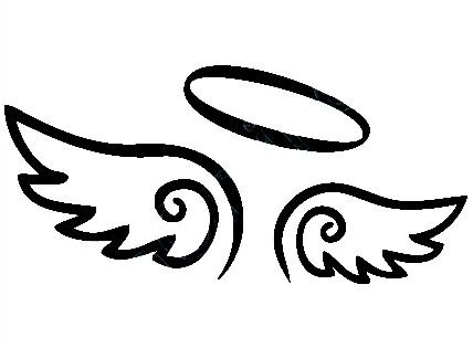 free angel wings with halo clip art - photo #19