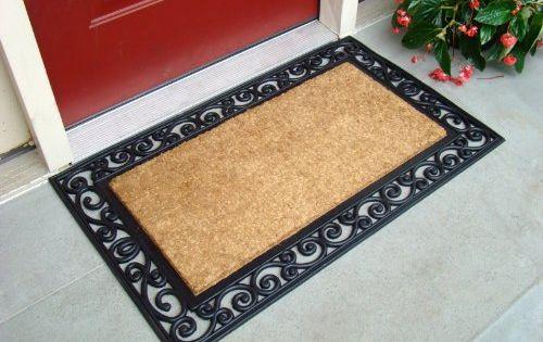 Kempf Inlaid Scroll Coco Doormat 24 By 39 By 0 5 Inch In 2020 Door Mat Front Door Mats Coconut Fiber