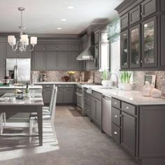 Gray Kitchen Cabinets Slate Appliances Google Search Modern Grey Kitchen Slate Appliances Kitchen Kitchen Cabinet Design
