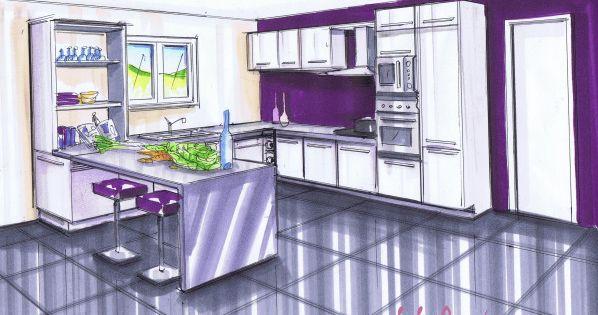 Mur prune le blog de elise fossoux deco pinterest for Mur cuisine prune