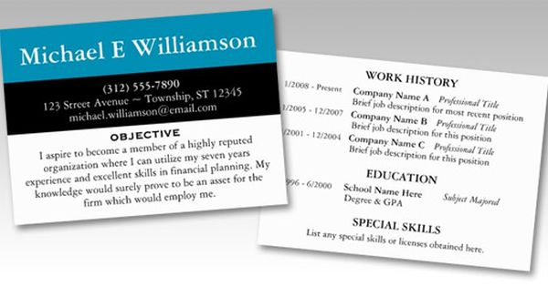 Black Stripe Blue Resume Business Cards College Application Essay Resume Resume Writing