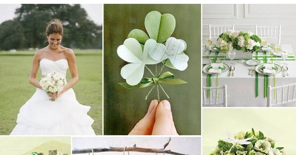 clover green wedding | The Perfect Palette: {Lucky in Love}: Shades of