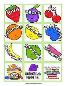Fruit Of The Spirit Bible Printables Christian Preschool Toddler Bible Bible For Kids