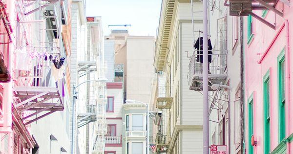 San Francisco les maisons roses