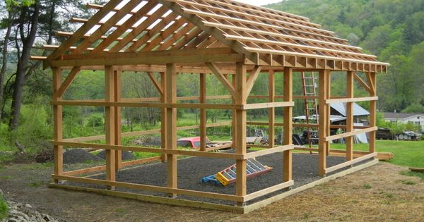 Build Your Own Garage >> 12 x 16 pole barn skeleton | dream shop | Pinterest | More Pole barn designs and Wooden poles ideas