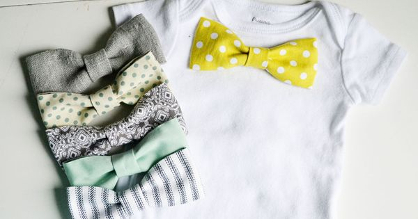 How to make a bow-tie onesie with snaps so that you can