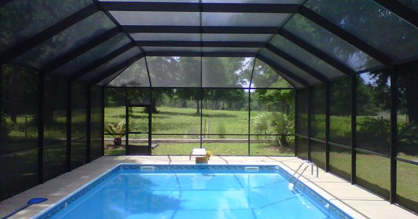 Florida screened in pools swimming pool screen for Swimming pool enclosures cost