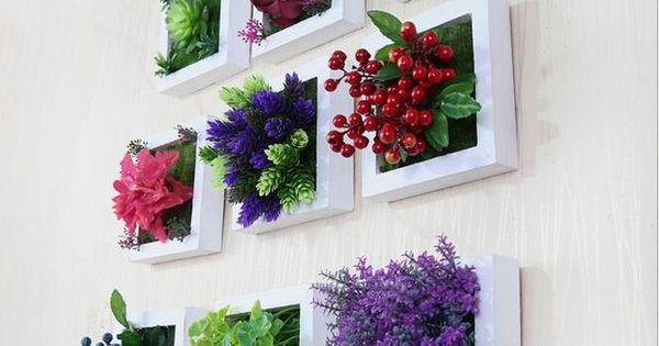 Tres dimensiones artificial plantas verdes colgante de for Proveedores decoracion hogar