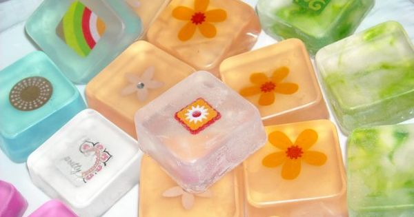 Embellished Glycerin Soaps // Handmade Gift for Mother's Day…or anytime