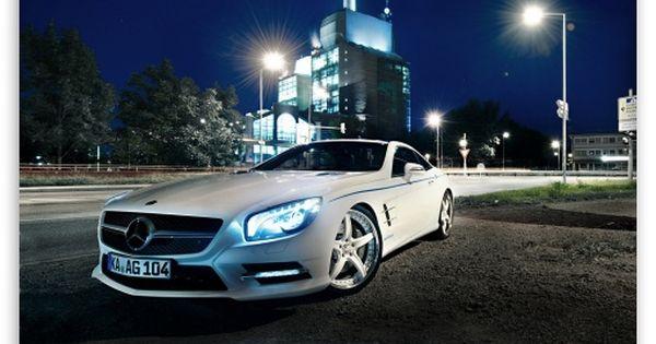 Mercedes Benz Sl500 Night Hd Desktop Wallpaper Widescreen High Definition Car Wallpapers Benz Mercedes Benz Sls