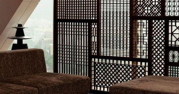 자연 테마 파티션 인테리어 디자인과 복잡한 목재 룸 디바이더 ...