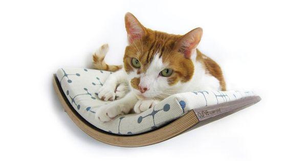 wall mounted cat shelves | Curved Cat Shelf | MyWonderList