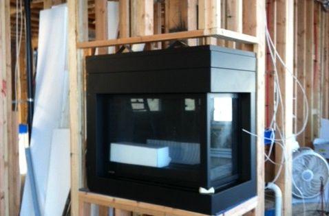 modern two sided corner fireplace - Google Search | Fireplace ...