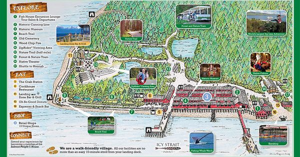 Icy Strait Point Overview Map Northern Exposure Pinterest Alaska Alaska Cruise And Cruises