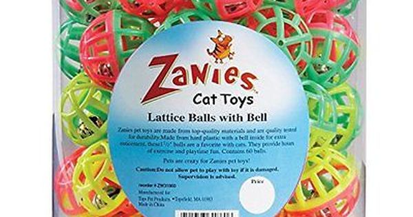 Zanies Plastic Lattice Balls Cat Toy Canister 50 Pack