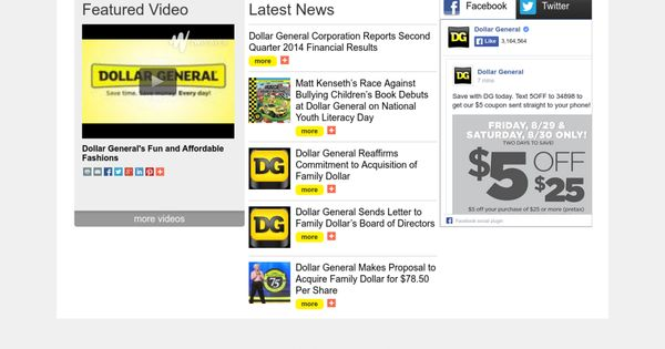 Dollar GeneralS Online Newsroom Has All The Features With Which