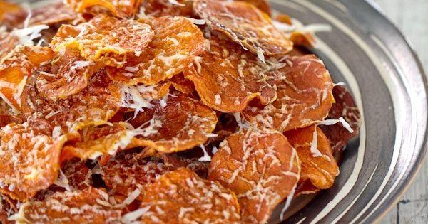 Baked Butternut Squash Chips (Snack)