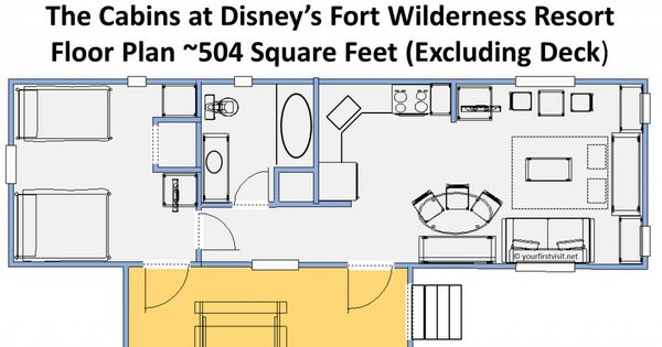 Review the cabins at disney 39 s fort wilderness resort for Fort wilderness cabins floor plan