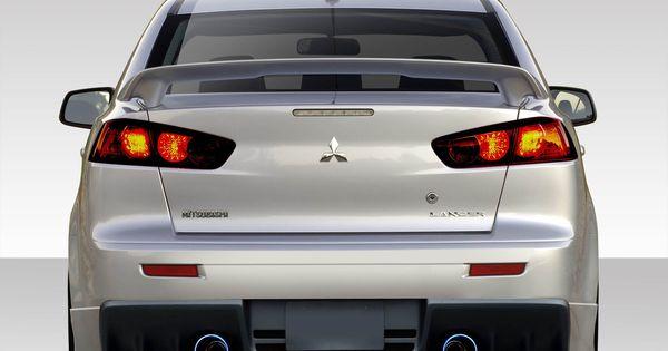 2008 2017 Mitsubishi Lancer Duraflex Evo X V3 Rear Bumper Cover 1 Piece In 2021 Mitsubishi Lancer Evo X Mitsubishi
