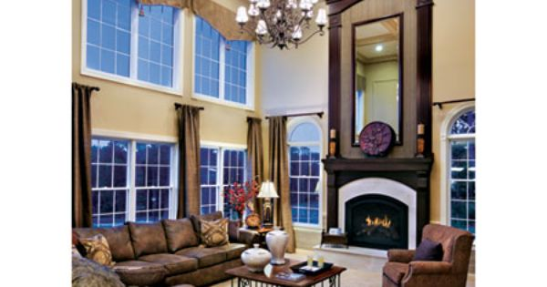 Toll brothers 2 story family room window treatments pinterest family rooms fireplaces and for 2 story family room window treatments