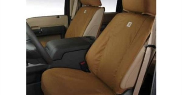 2011 2015 Ford Super Duty Carhartt Seat Covers Brown Front 40 20 40 Seat Covers Truck Seat Covers Car Seats