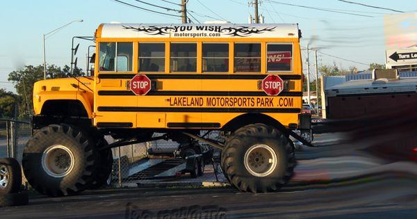 Truck Mud Tires >> A school bus wearing Monster Truck tires = ODDITY | Monster mud, Truck tyres and Monster trucks