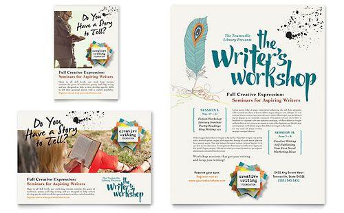 Writer S Workshop Flyer Ad Template Poster Presentation