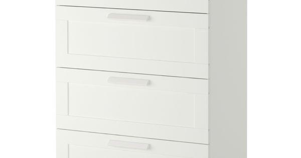 Brimnes 4 draer dresser white