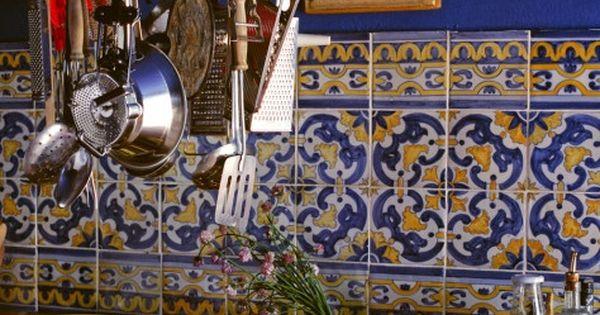 Moroccan kitchen tiles, bright kitchen colors