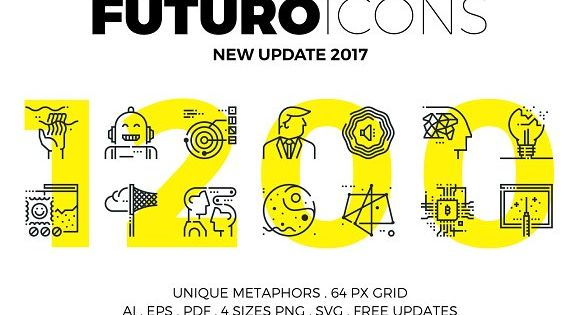 Futuro Line Icons by Bloomicon on @creativemarket