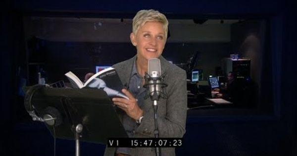 Ellen Degenerous narrating the audio book 50 shades of Grey. so funny!