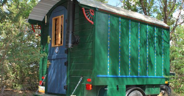 Vardo home built gypsy style travel trailer minimalist for Minimalist house trailer