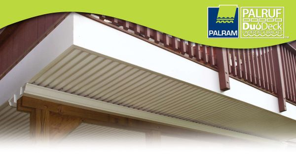 Duodeck Brackets And Palruf Corrugated Pvc Panels To Turn Your Deck Into A Waterproof Roof For The Under Deck Wit Decks And Porches Under Decks Decks Backyard