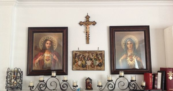 Catholic Home Altar On A Shelf!