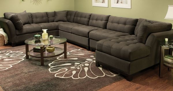 Cindy Crawford Metropolis 2 Pc Microfiber Sectional Sofa