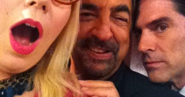 "Kirsten Vangsness, Joe Mantegna & Thomas Gibson on the set of ""Criminal"