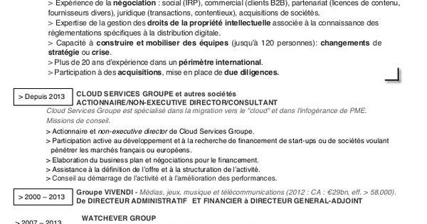 cv directeur administratif  u0026 financier
